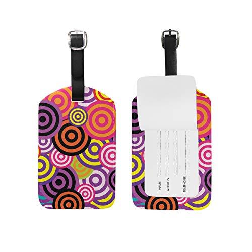 Lollipop Gepäckanhänger, PU-Leder, für Reisetasche, Koffer, Gepäck