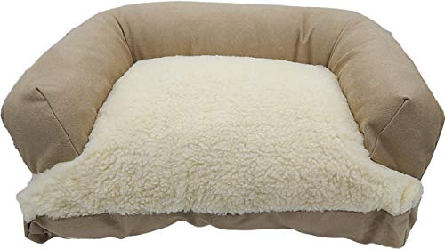 Caddis Beasley's Couch Dog Bed PolySuede Tan Small 20' x 25'