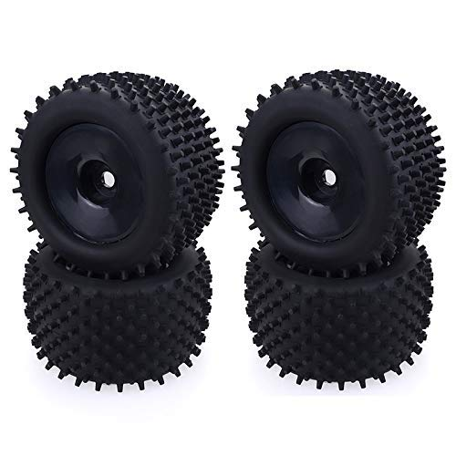 Suading 4Pcs Truck Bigfoot Tire Pneumatici 17Mm Hex Wheel Car Tire per 1/8 off Road Truck Redcat Hsp Kyosho Hongnor Team Losi, Sicuro e Confortevole