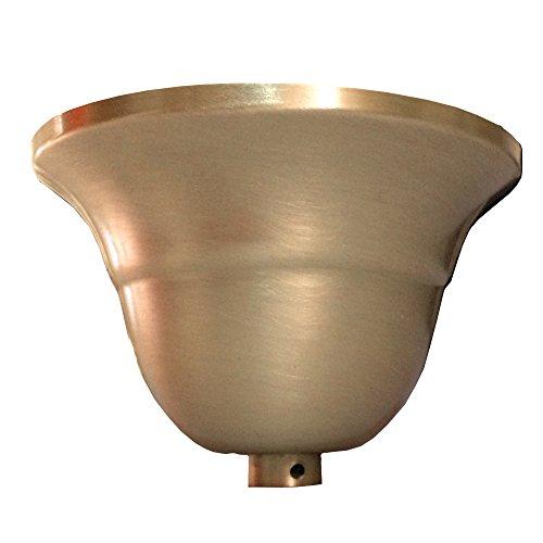 Leuchten Baldachin Metall Messing mattiert flämische Form > Leuchtentopf > Lampentopf > Deckentopf