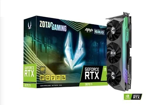 ZOTAC Gaming GeForce RTX 3070 Ti AMP Holo 8GB GDDR6X 256-bit 19 Gbps PCIE 4.0 Gaming Graphics Card, HoloBlack, IceStorm 2.0 Advanced Cooling, Spectra 2.0 RGB Lighting, ZT-A30710F-10P