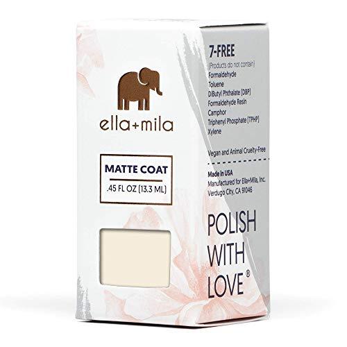 ella+mila Nail Care, Matte Top Coat - Matte-ly in Love