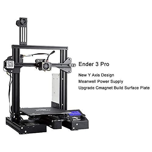 Impresora 3D oficial Creality Ender 3 Pro con fuente de alimentación Meanwell y placa magnética flexible, impresión de currículum vitae 220x220x250mm