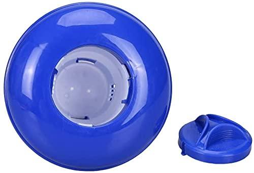 M.Q.L. Dispensador Flotante de Cloro químico de Cloro, Flotador de bromo de Cloro químico para Piscina, Jacuzzi, SPA, Solo dispensador, 13 x 13,5 cm, 250 g de Capacidad