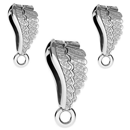 Doe-het-zelf hangerlussen, 3 stuks, 14 mm vleugels, 925 sterling zilver, nikkelvrij, hangerverbinder, in juwelierskwaliteit