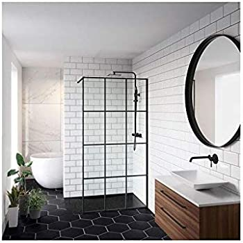 Walk In Loft - Mampara de ducha (100 cm), color negro: Amazon.es: Bricolaje y herramientas