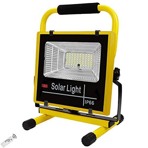 Focos construcción LED recargables exteriores, 400W 6000 lúmenes, focos batería reflectores portátiles, luces trabajo IP65 con control remoto, trabajo sostenible 8-16 horas, sincronización 3/5 / 8H