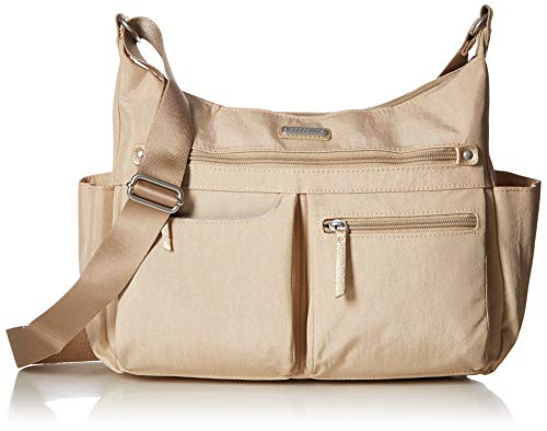 Baggallini New Classic Heritage Anywhere Large Hobo with RFID Phone Wristlet, Champagne Shimmer