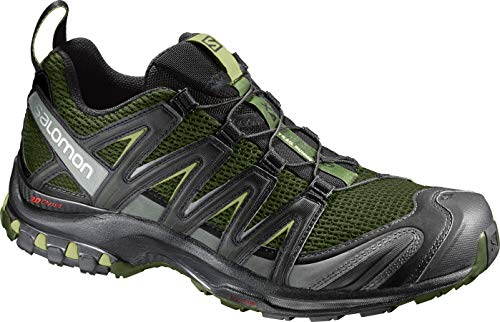 Salomon Men's XA Pro 3D Trail Running Shoes, Chive/Black/Beluga, 10