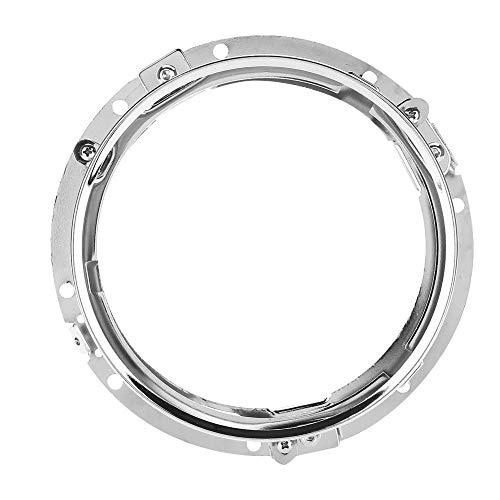 Keenso 7 zoll Motorrad Scheinwerfer Halterung Runde Schwarz Chrom Scheinwerfer Halterung(Silber)