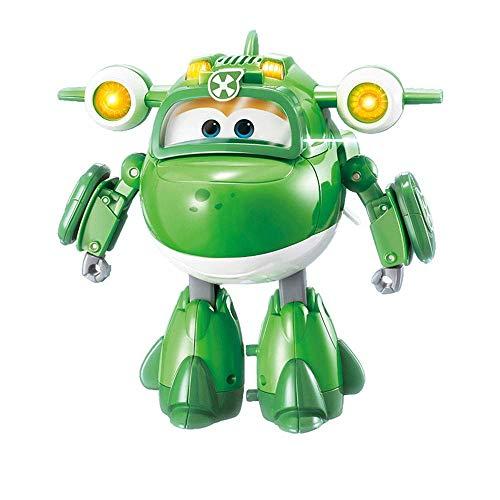 NLRHH Super Wings Mira Deformation Toys Sound and Light Super Equipment Deluxe Transformando Vehículo Transform-A-Bots Gran deformación Robot Robot Traje Juguetes para niños Peng