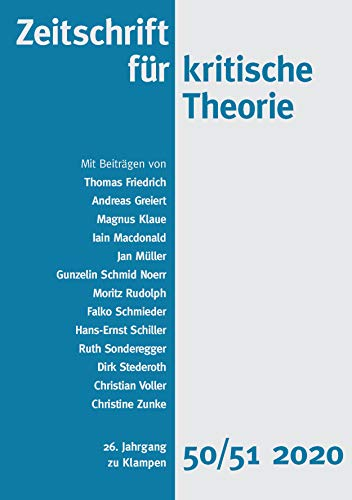 Zeitschrift für kritische Theorie, Heft 50/51: 26. Jahrgang (2020)