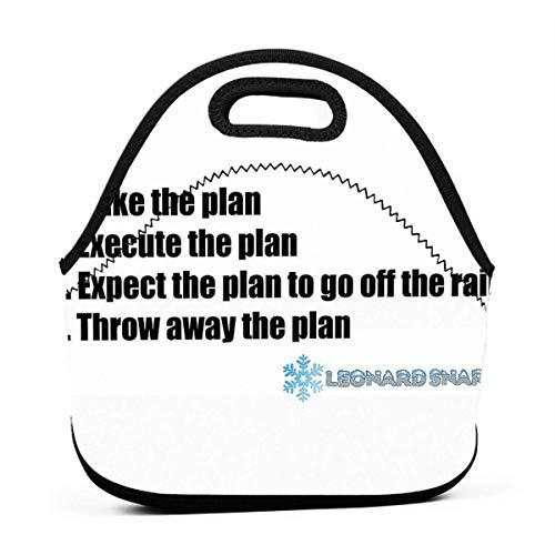XCNGG Der ultimative Plan Männer Frauen Kinder Isolierte Lunch Bag Tote Wiederverwendbare Lunchbox für die Picknickschule