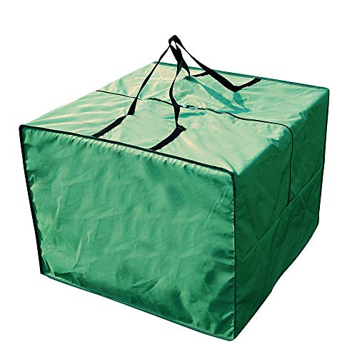 Yolaka Outdoor Furniture Seat Cushions Storage Bag Waterproof Garden Set Covers Carrying Bag Square Green 81x81x61cm