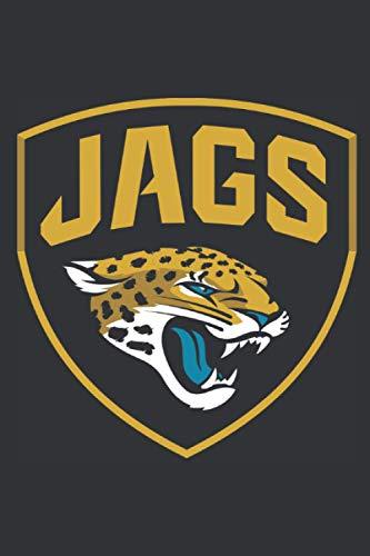 Jacksonville Jaguars Notebook: Minimalist Composition Book   100 pages   6