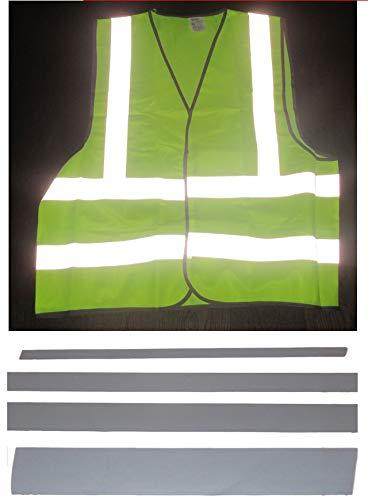Cinta reflectante de 350 cm para coser, de material prémium, tela altamente reflectante, 10 mm/20 mm/30 mm/50 mm, * ancho a elegir*