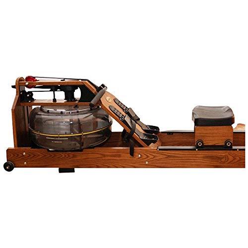 DSHUJC Vogatore, Vogatore Water Rower, Vogatore in Legno per Interni con Monitor LCD Esercizio per Tutto Il Corpo