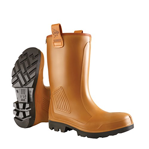 Dunlop Protective Footwear Dunlop Protective Footwear Purofort Rig-Air full safety Unisex-Erwachsene Gummistiefel, Braun 39 EU