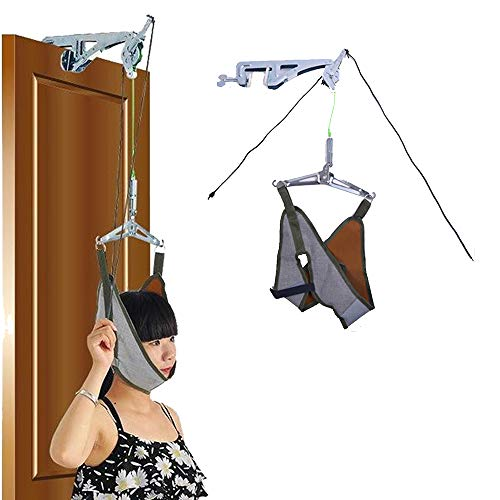 Cervical Traction Over The Door Neck Traction Device Spinal Decompression Neck Stretcher Over Door Cervical Traction Home Unit Neck Sling Hammock Physical Therapy Stretching Harness Machine