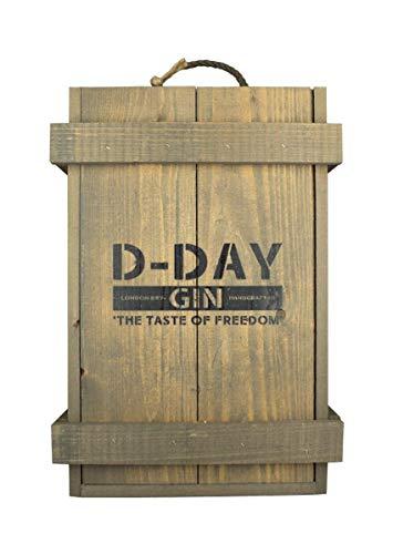 D-Day gin en caja de municiones