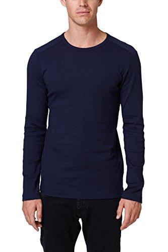ESPRIT Herren 998EE2K818 Langarmshirt, Blau (Navy 400), XX-Large