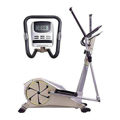 Máquina elíptica, Equipo de Fitness silencioso con Control magnético bidireccional LCD multifunción para el hogar, Ajustable de 8 velocidades, Bicicleta estática, para Uso de Hombres y Mujeres, quem