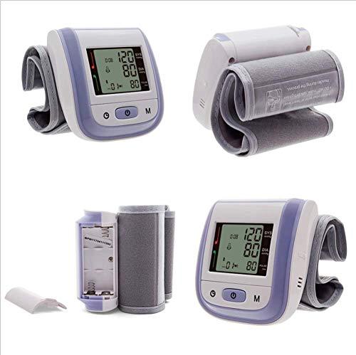 WXCCK Monitor Automatico della Pressione Sanguigna del Braccio Superiore per Uso Domestico,Rilevatore di Battito Cardiaco, Ampio Display LCD, modalità Memoria 2 * 99 per I Bambini più Grandi,Purple