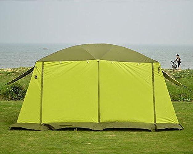 HWZPHH Tente, Wigwam, Super Grande Tente de Camping étanche Famille 4Saisons 2Chambres Tente Cabine 210d Oxford Double Couche 12Personne extérieure Tente de Camping