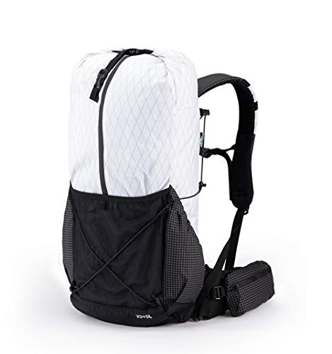 Topashe Mochila de Senderismo Cubierta Camping Deporte,Bolsa de montañismo Impermeable, Bolsa de Viaje al Aire Libre 30L-Blanco,Mochila Trekking Escalada
