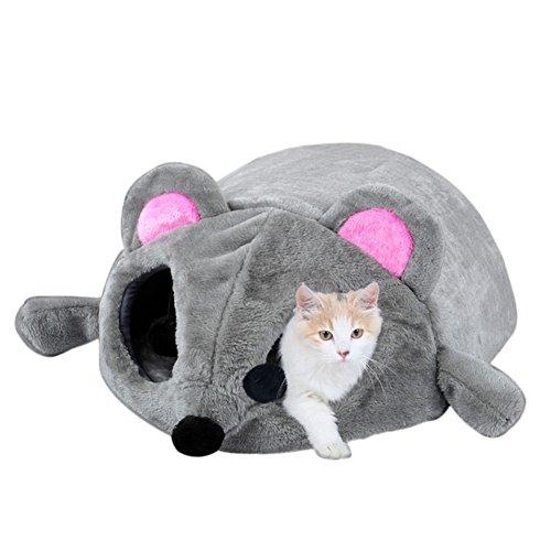 Haustier Nest Hundekatzen Bett,Kiao Welpen Maus Weiches Gemütliches Warmes Höhlenhaus Schlafsack Matten Auflage