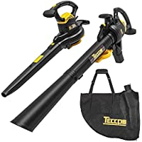 Teccpo 12A Corded Leaf Blower/Vacuum with 40L Collection Bag