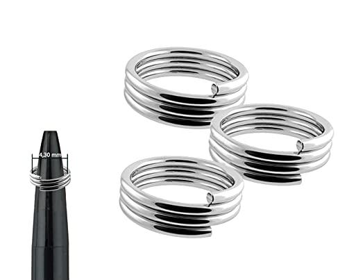GOKarli 100 Stück Dart Federringe für Dartschäfte Nylon Schäfte Shaft Ringe Metall