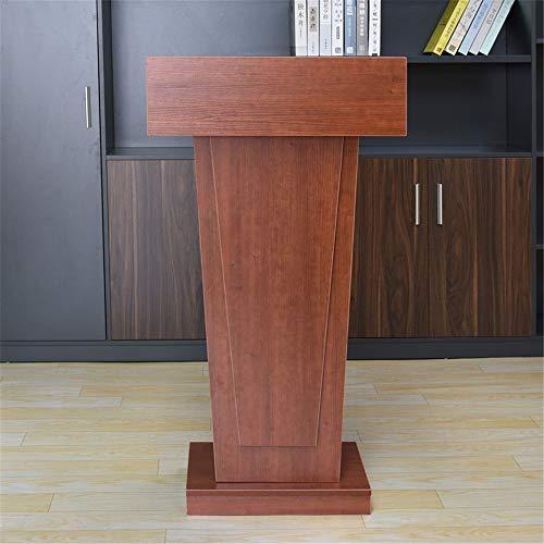 ROGF Pulte & Podien Klassenzimmer Vortrag Speech Teach-Plattform Stehen Rednerpult Podium Kirche Kanzel Für Konferenzraum (Color : Red-Brown, Size