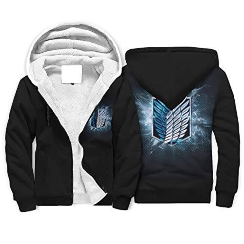 Attack On Titan Logo - Sudadera con capucha para hombre (5XL), color blanco