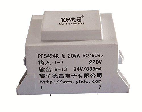 YHDC Transformadores de PCB PE5424K-M 20VA Primerio 220V Segundario 18V