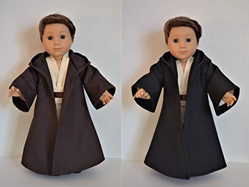Handmade Star Wars Inspired Jedi Anakin Skywalker Costume Robe Cloak fit 18' American Girl Boy Dolls
