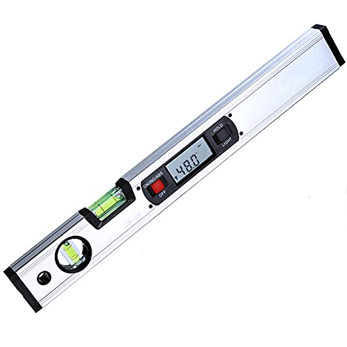 ASDMRQ Nivel de alcohol, nivel electrónico, dos niveles de burbuja, nivel de visualización digital, instrumento de medición de ángulo de inclinación, herramienta de medición de nivel