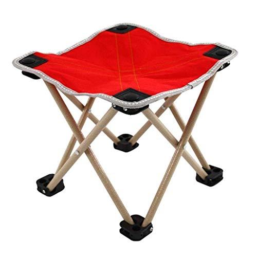 JALAL Tabouret Pliant Camping, Cadre en Alliage d'aluminium ultraléger Portable Tabouret d'extérieur Anti-déchirure Oxford Pieds antidérapants