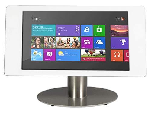 Soporte de escritorio para tablet Fino para Microsoft Surface Pro 12.3 - blanco/acero inoxidable - cámara cubierta