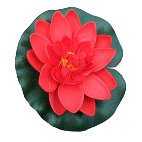 qingsb Fleurs artificielles Lotus Fausses Fleurs Lys Aquarium Décoration pour la Maison