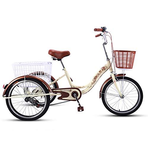 TWW Triciclos De Propulsión Humana, Bicicletas, Pedales, Pedales, Camiones Pequeños, Personas Mayores, Ocio De Mediana Edad Y Ancianos, Triciclos De Transporte,Gris