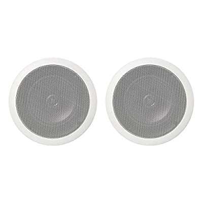 Amazon Basics 16.5 cm Round In-Ceiling / In-Wall Speakers (Pair) from Amazon Basics