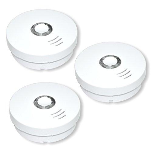 SUMMIT 3 Stück Rauchmelder/Rauchwarnmelder Modell GS 508 - VDs - geprüft nach DIN EN14604 - integrierte Lithium Batterie (10 Jahre Lebensdauer)