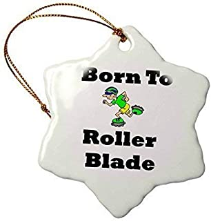 TIFA-LOVE Christmas Ornaments Image of Cartoon Born to Roller Blade with Skater Hanging Ornaments