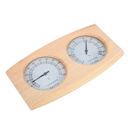 YARNOW Holz Saunaraum Hygrothermograph Thermometer Hygrometer Saunaausrüstung Zubehör