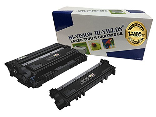 HI-Vision Compatible Dell E310DW, E514DW, E515DN, E515DW (593-BBKD,PVTHG) Black 2,600 Pages and (593-BBKE, WRX5T) 12,000 Yield Imaging Drum Unit Replacement (1 High Yield Toner, 1 Drum)