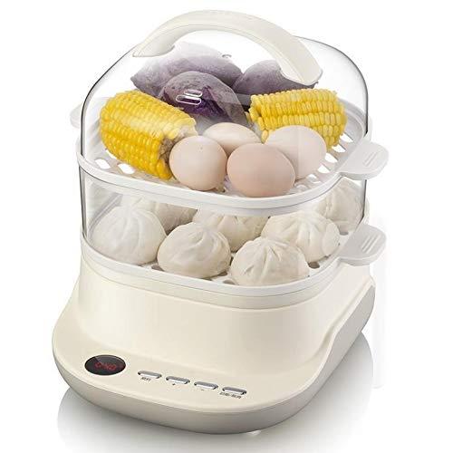 XJJZS Vaporera eléctrica Vapor del alimento de múltiples Funciones de Inicio pequeña Gran Capacidad de Doble Capa de Vapor del arroz