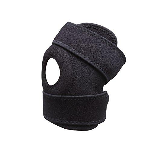 Hacer y tapa de ca rodilla apoyo Brace Open Patella stablize ajustable para rótula Tendinitis menisco Tear deportes proteger Pack de 1