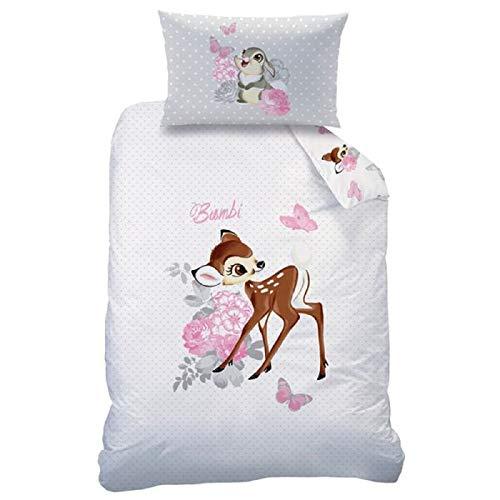Bambi Baby Wende Bettwäsche Disney 100 x 135 cm 100% Baumwolle
