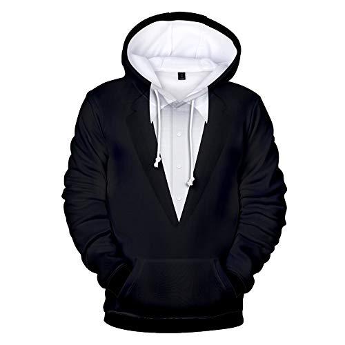 Zcbm Impression 3D Costume Pull Sweat À Capuche Manches Longues Hoodies Vêtements Extérieur Sweatshirt Vêtements Pulls Top Fashion Unisex Apparel,XXL